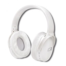 Qoltec Wireless Headphones with microphone Super Bass | Dynamic | BT | Pearl White