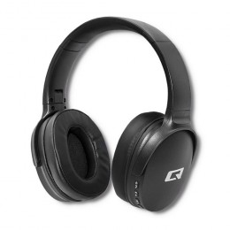 Qoltec Wireless Headphones with microphone Super Bass | Dynamic | BT | Black