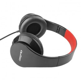 Headphones with microphone | Folding | Red-Black