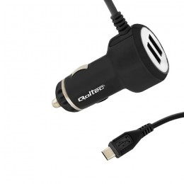 Car charger 20.5W | 5V | 4.1A | 2xUSB | +cable Micro USB