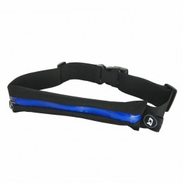 Universal sports belt | single pocket | Black+blue