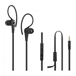 Sports in-ear headphones premium with microphone | Black