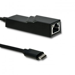 Qoltec USB adapter type C male / RJ-45 female | 20cm