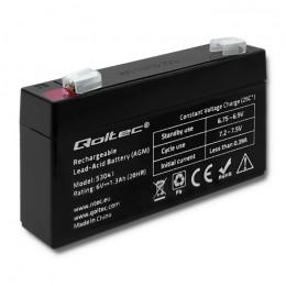AGM battery | 6V | 1.3Ah | max.0.39A