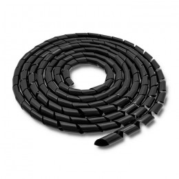Cable organizer 10mm | 10m | Black