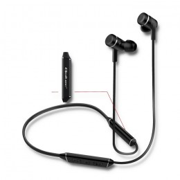 Sports in-ear headphones wireless BT premium with microphone | Magnetic | Long life | Black