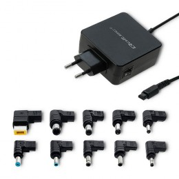 Qoltec Universal power adapter 65W |10 plugins