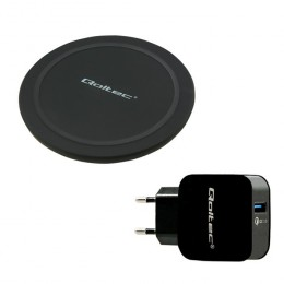 Induction Wireless Charger RING 10W + Charger 18W | 5V | 3A | Qualcomm QuickCharge 3.0 | black
