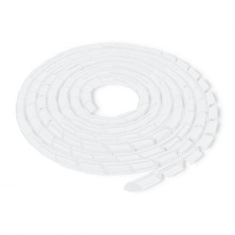 Cable organizer 6mm | 10m | White
