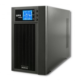 Qoltec Uninterruptible Power Supply | On-line | Pure Sine Wave | 3kVA | 2.4kW | LCD | USB