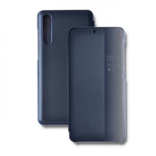 Qoltec Smart Flip Cover Case For Huawei P20 Pro Navy Blue 51688 Flip Cover Case Qoltec