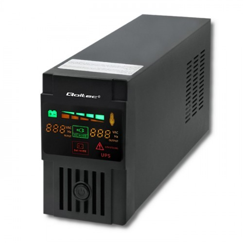 Qoltec Uninterruptible Power Supply | Monolith | 600VA | 360W | LCD | USB